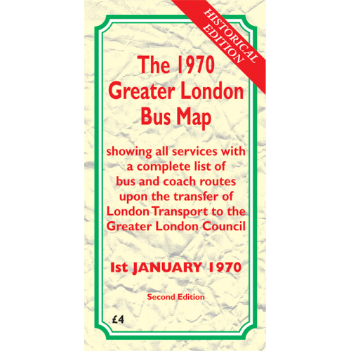 The 1970 Greater London Bus Map SECOND EDITION - Printed Version