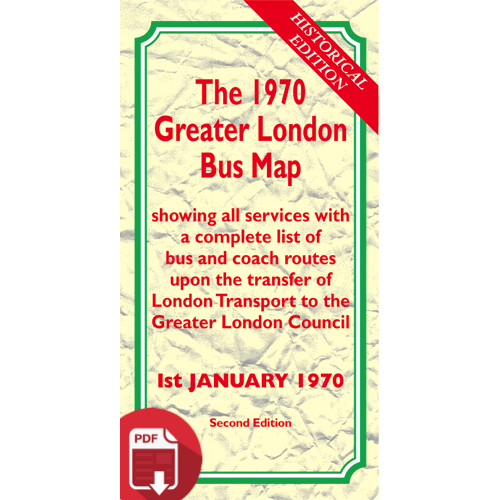 The 1970 Greater London Bus Map SECOND EDITION - Digital Download Version