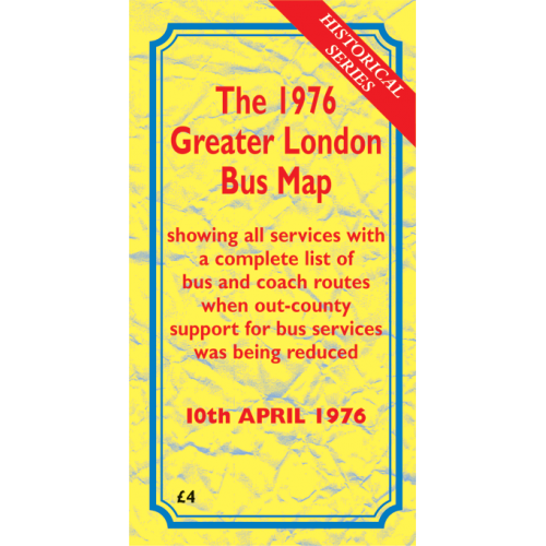 PRE-ORDER The 1976 Greater London Bus Map - Printed Version