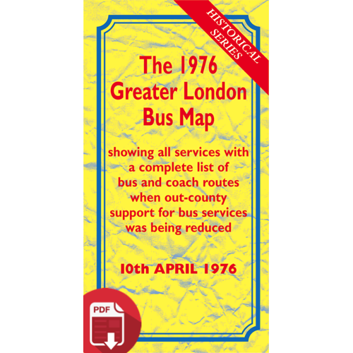The 1976 Greater London Bus Map - Digital Download Version