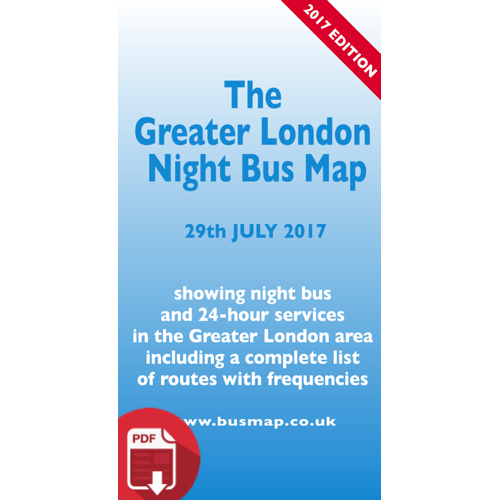 The Greater London Night Bus Map 2017 - Digital Download Version