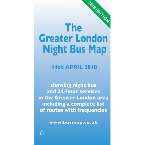 The Greater London Night Bus Map - 2018 Edition - Printed Version