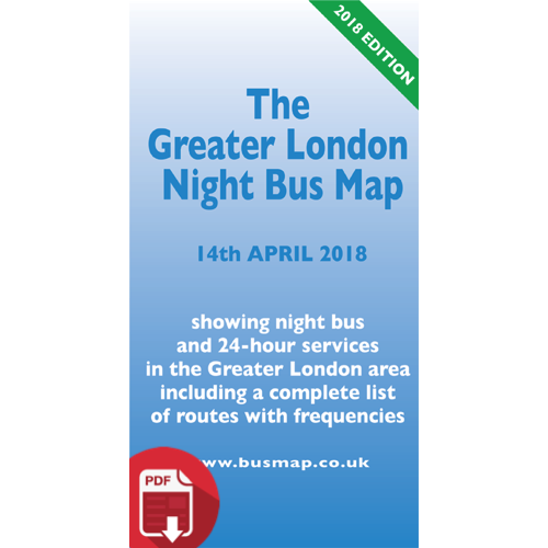 The Greater London Night Bus Map 2018 - Digital Download Version