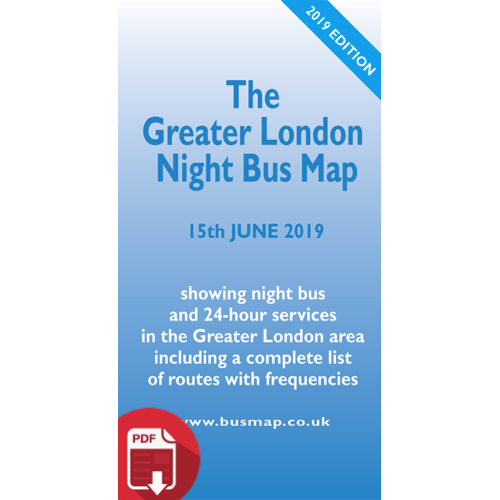 The Greater London Night Bus Map 2019 - Digital Download Version