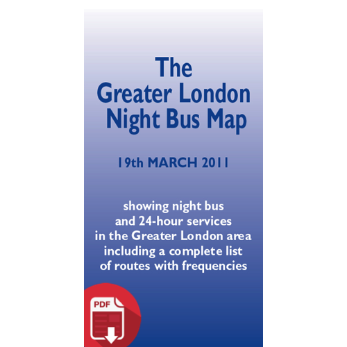 The Greater London Night Bus Map 2011 - Digital Download Version