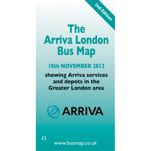 Arriva London Bus Map 2012 - Digital Download Version