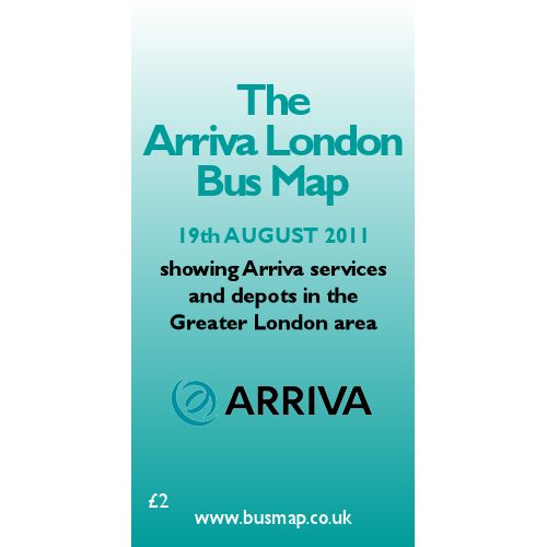 Arriva London Bus Map 2011 - Digital Download Version