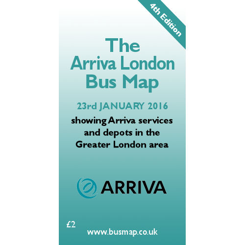 Arriva London Bus Map 2016 - Digital Download Version