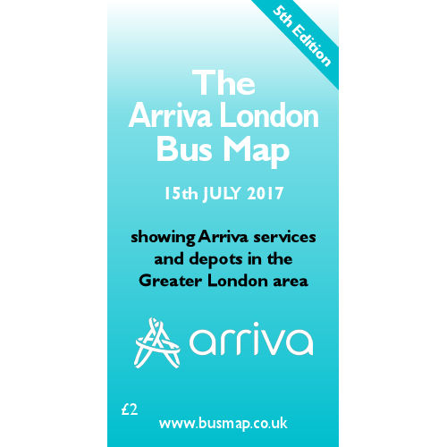 Arriva London Bus Map 2017 - Digital Download Version