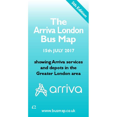 Arriva London Bus Map 2017 - Digital Download Version