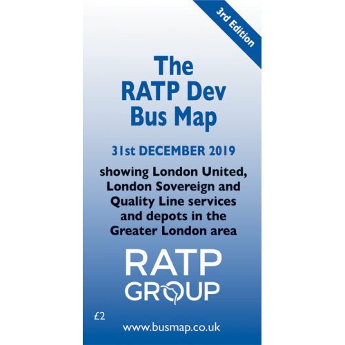 RATP Dev Bus Map 2019 - Digital Download Version