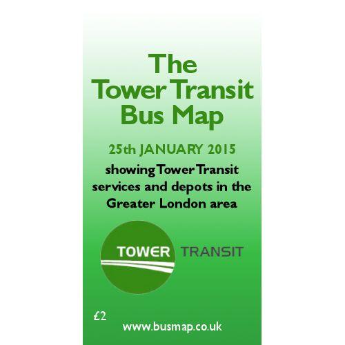 Tower Transit Bus Map 2015 - Digital Download Version