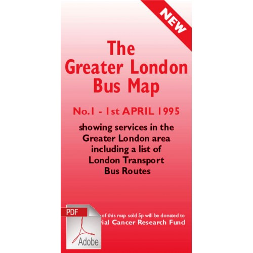 The Greater London Bus Map 1 - Digital Download Version