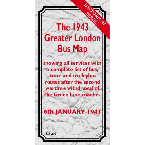 The 1943 Greater London Bus Map - Printed Version