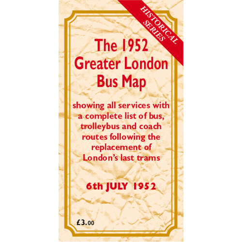 The 1952 Greater London Bus Map - Printed Version