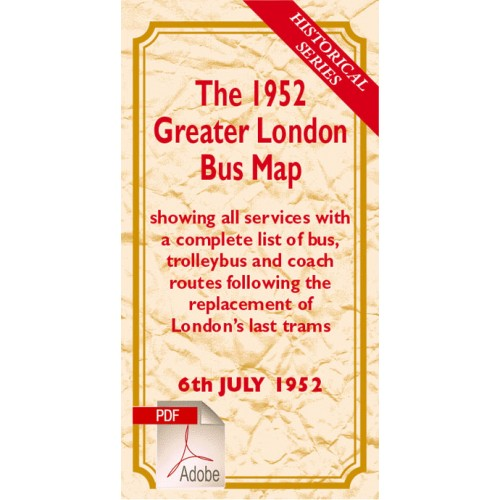 The 1952 Greater London Bus Map - Digital Download Version