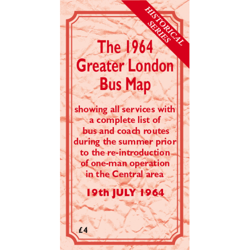 The 1964 Greater London Bus Map - Printed Version