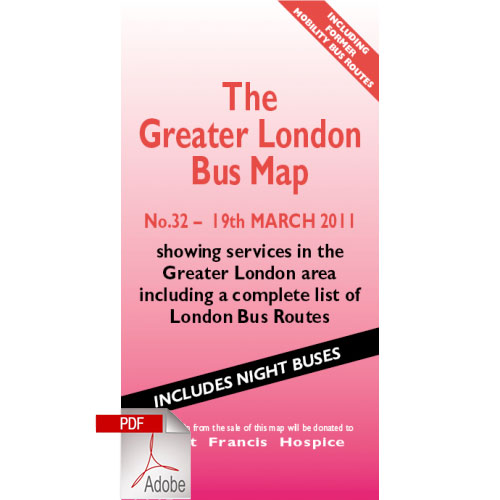 The Greater London Bus Map 32 - Digital Download Version