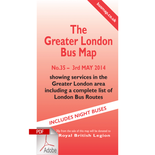 The Greater London Bus Map 35 - Digital Download Version