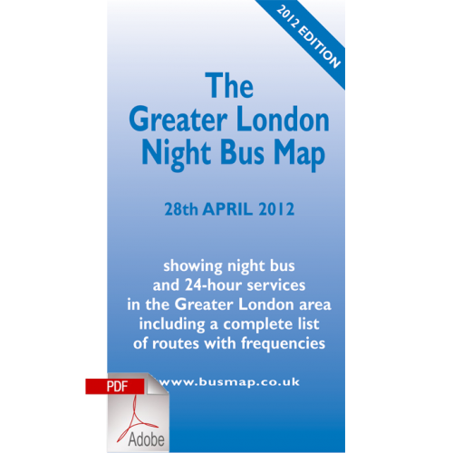 The Greater London Night Bus Map 2012 - Digital Download Version