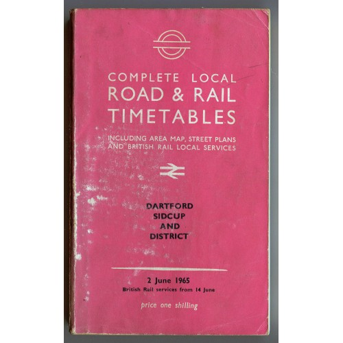 London Transport Dartford Local Road & Rail Timetable 2nd June 1965