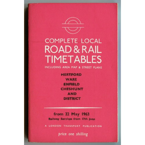 London Transport Dartford Local Road & Rail Timetable 22nd May 1963