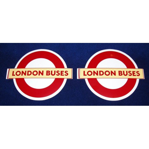 "London Buses Self-Adhesive Vinyl Roundel 10.5"" (4 copies)"