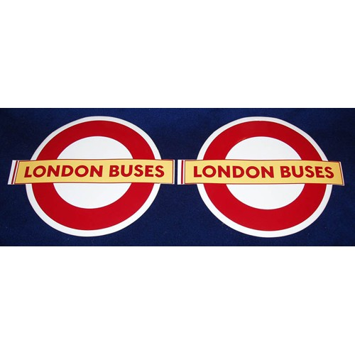 "London Buses Self-Adhesive Vinyl Roundel 17"" (4 copies)"