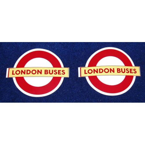 "London Buses Self-Adhesive Vinyl Roundel 4.75"" (4 copies)"