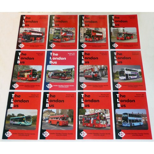 Complete 2012 Set of 12 LOTS Newsletters 'The London Bus' (TLB)